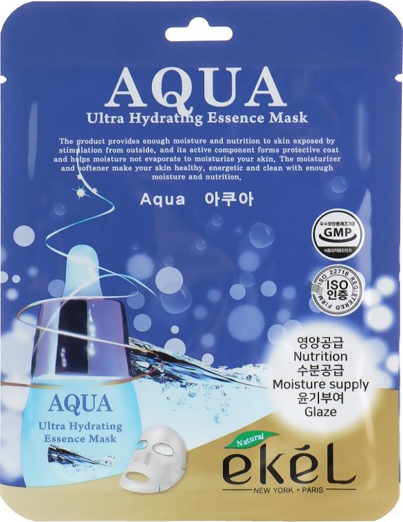 Тканевая маска ультраувлажняющая - Ekel Aqua Mask