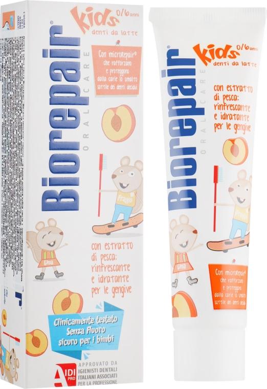 """Зубная паста """"Веселый мышонок"""" персик - Biorepair Kids Milk Teeth"""