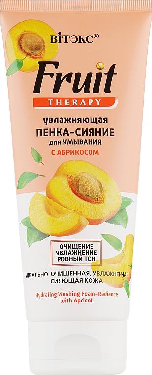 Увлажняющая пенка-сияние для умывания с абрикосом - Витэкс Fruit Therapy
