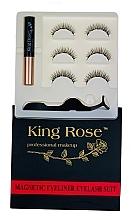 Духи, Парфюмерия, косметика Набор магнитных ресниц 3 пары с аппликатором и магнитной подводкой, 2085 - King Rose