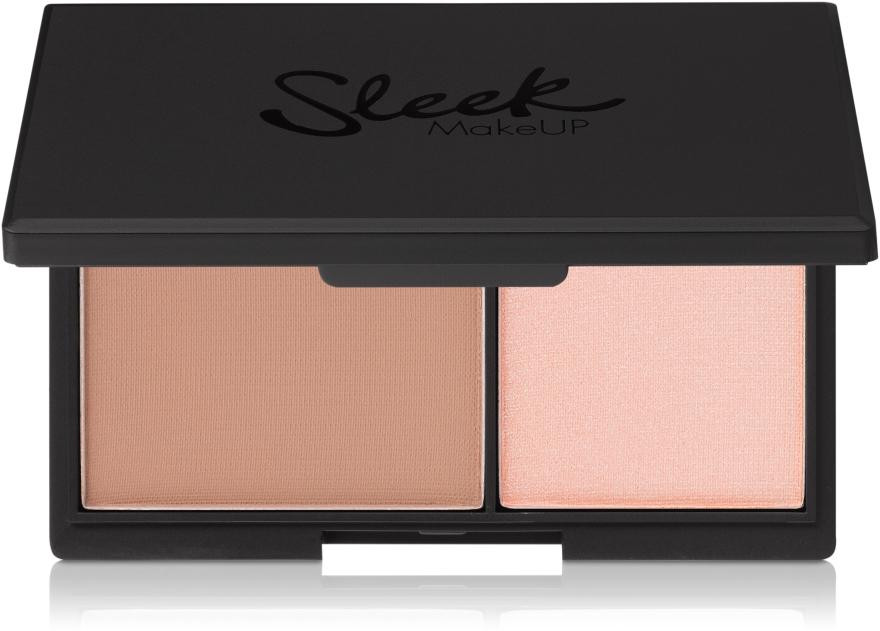 Матовая пудра и хайлайтер для лица - Sleek MakeUP Face Contour Kit