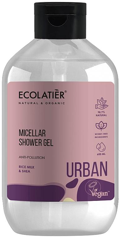 """Мицеллярный гель для душа """"Рисовое молочко и ши"""" - Ecolatier Urban Micellar Shower Gel"""