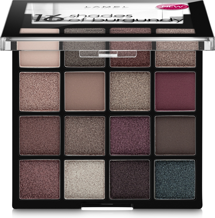 Палетка теней для век - Lamel Professional Eyeshadow 16 Shades Of Burgundy