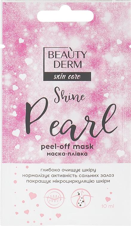 Маска-пленка для лица - Beauty Derm Skin Care Shine Pearl Peel-off Mask