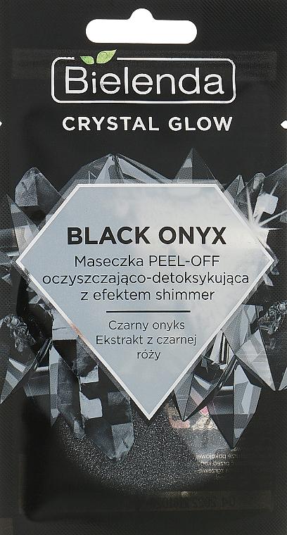 Очищающая детокс-маска для лица - Bielenda Crystal Glow Black Onyx Peel-off Mask