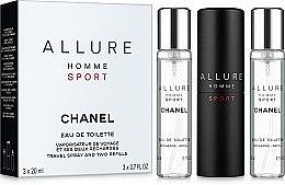 Парфумерія, косметика Chanel Allure homme Sport - Набір (edt/20ml + refill/2x20ml)
