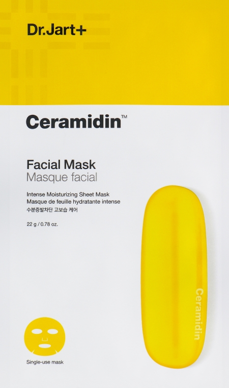 Восстанавливающая тканевая маска с керамидами - Dr. Jart+ Ceramidin Facial Mask