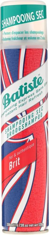 Сухой шампунь - Batiste Brit Fier & Authentique Dry Shampoo