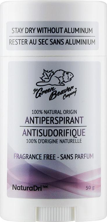 Дезодорант-антиперспирант без запаха - Green Beaver Antiperspirant