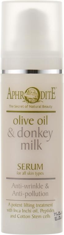 Антивікова захисна сироватка - Aphrodite Olive Oil & Donkey Milk Serum — фото N2