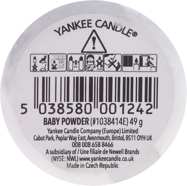 Ароматическая свеча - Yankee Candle Scented Votive Baby Powder — фото N2