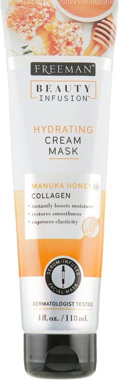 "Кремовая маска для лица ""Мед мануки и коллаген"" - Freeman Beauty Infusion Hydrating Cream Mask"