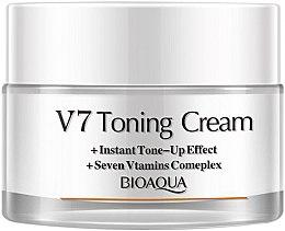 Духи, Парфюмерия, косметика Крем для лица отбеливающий - Bioaqua V7 Toning Cream