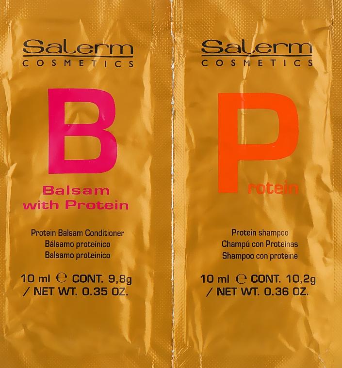 Набор - Salerm Linea Oro Protein (shm/10ml + balm/10ml)