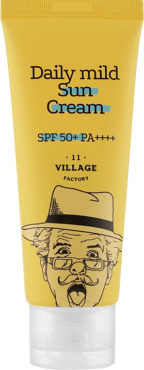 Солнцезащитный крем - Village 11 Factory Daily Mild Sun Cream SPF 50+ PA++++