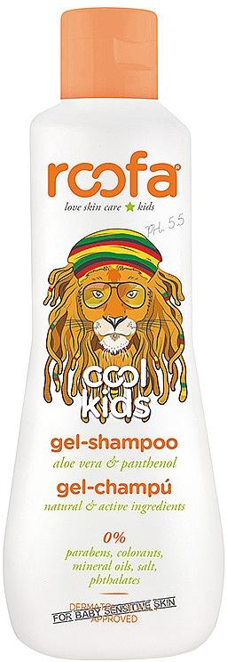 Гель-шампунь с алоэ вера и пантенолом с ароматом грушевого сорбета, с 4 лет - Roofa Cool Kids Gel Shampoo