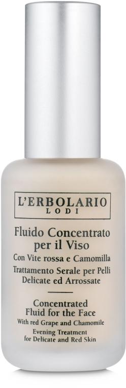 Жидкий концентрат с чёрным виноградом и ромашкой - L'Erbolario Fluido Concentrato Viso Vite Rossa&Caamomilla