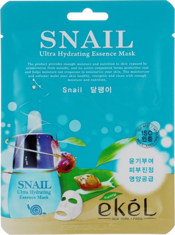 Тканевая маска с экстрактом муцина улитки - Ekel Snail