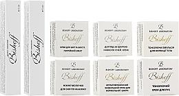 Духи, Парфюмерия, косметика Мини-набор для нормальной кожи - Bishoff (hand/cr/2.5ml + eye/cr/2.5ml + cr/2.5ml + emulsion/2.5ml + cr/2.5ml + milk/2.5ml + tonic/5ml + gel/5ml)
