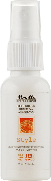 Жидкий лак для укладки волос - Mirella Professional Style Super Strong Hair Spray Non-Aerosol