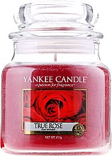 Духи, Парфюмерия, косметика Свеча в стеклянной банке - Yankee Candle True Rose
