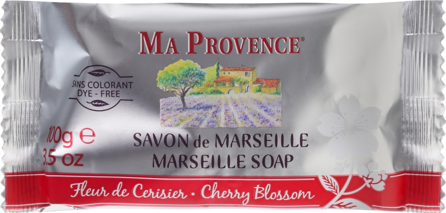 "Мыло твердое марсельское ""Цветы вишни"" - Ma Provence Marseille Soap Cherry Blossom"