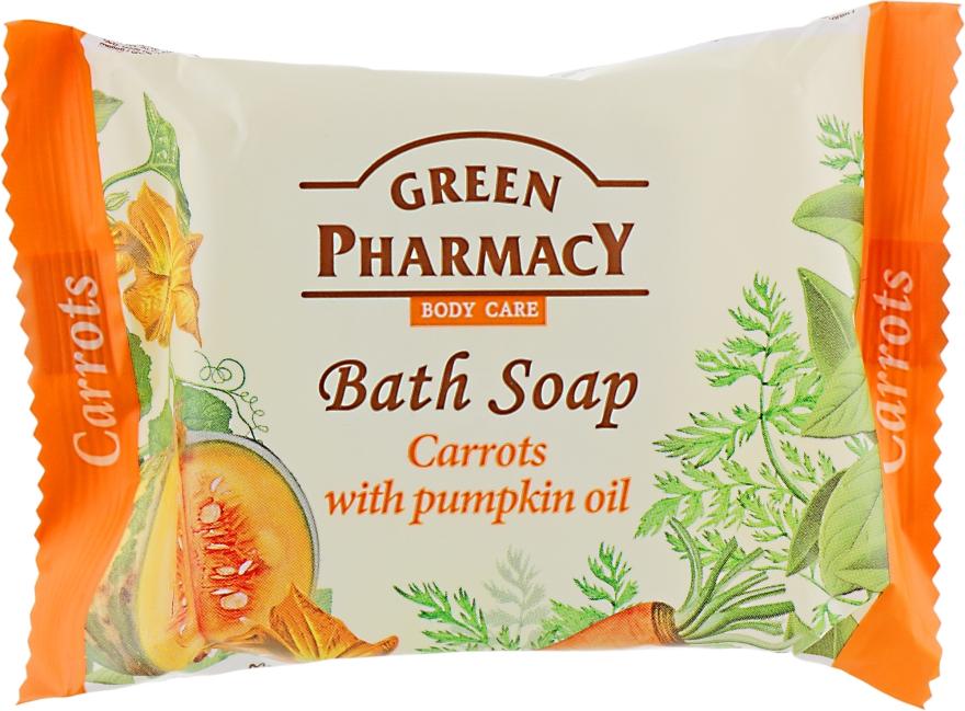 """Мыло """"Морковь с маслом тыквы"""" - Зеленая аптека"""