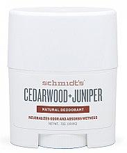 Духи, Парфюмерия, косметика Натуральный дезодорант - Schmidt's Deodorant Cedarwood Juniper Stick