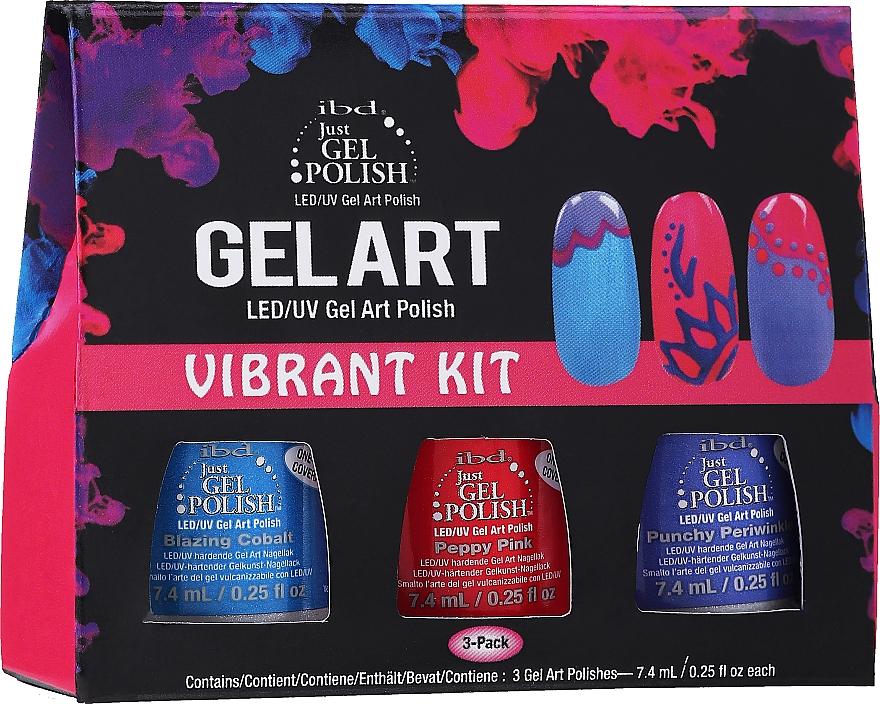 Набор - IBD Gel Art Vibrant Kit (nail/lacquer/7,4ml x 3)