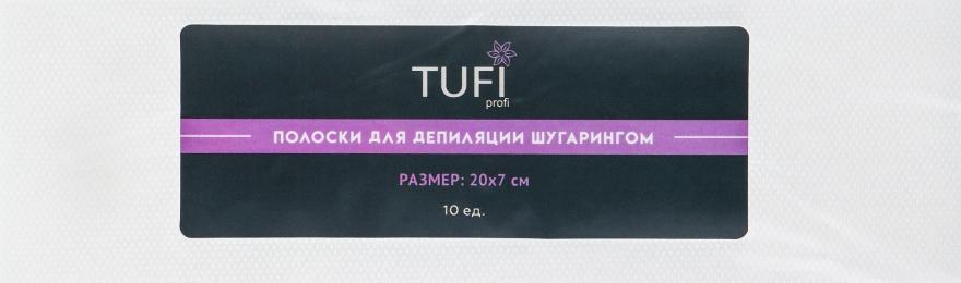 Полоски для депиляции для шугаринга - Tufi Profi