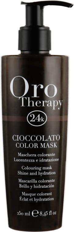 """Тонирующая маска для волос """"Шоколадная"""" - Fanola Oro Therapy Colouring Mask"""