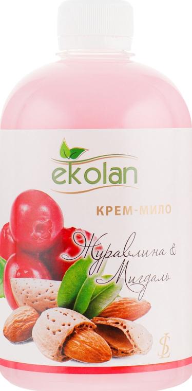 """Крем-мыло """"Клюква-миндаль"""" - Ekolan (сменный блок)"""