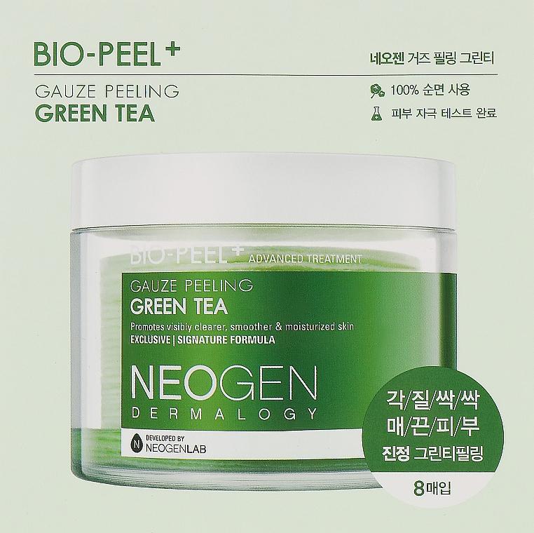 Пилинговые диски с зеленым чаем - Neogen Dermalogy Bio Peel Gauze Peeling Green Tea