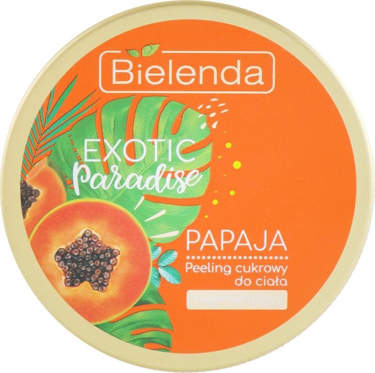 """Сахарный скраб для тела восстанавливающий """"Папайя"""" - Bielenda Exotic Paradise Regenerating Body Scrub Papaja"""