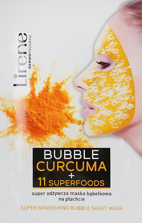 Пузырьковая маска с куркумой и суперфудами - Lirene Super Nourishinf Bubble Sheet Mask