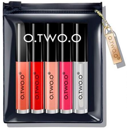 Набор блесков для губ - O.TWO.O Matte Liquid Lipstick & Lip Oil Set A
