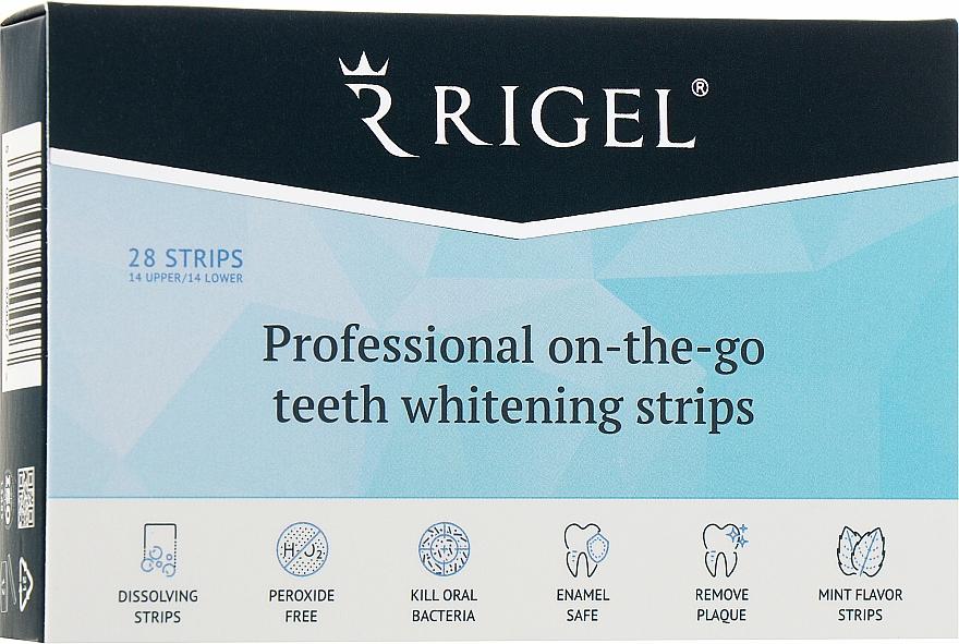 Профессиональные полоски для отбеливания зубов - RIGEL Professional On-The-Go Teeth Whitening Strips