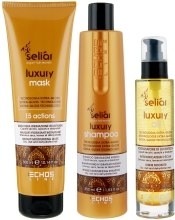 Духи, Парфюмерия, косметика Набор Seliar Luxury - Echosline Seliar Luxury Shampoo (shmp/350ml + mask/300ml + oil/100ml)