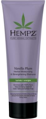 """Шампунь растительный """"Ваниль и слива"""" для ослабленных волос - Hempz Vanilla Plum Herbal Moisturizing & Strengthening Shampoo"""