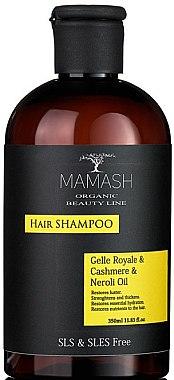 Шампунь-нутриент с ценным пчелиным маточным молочком, эфирами нероли и гидролизатом протеинов кашемира - Mamash Organic Hair Shampoo