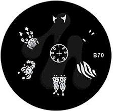 Духи, Парфюмерия, косметика Диск для стемпинга, B-70 - Nails Molekula