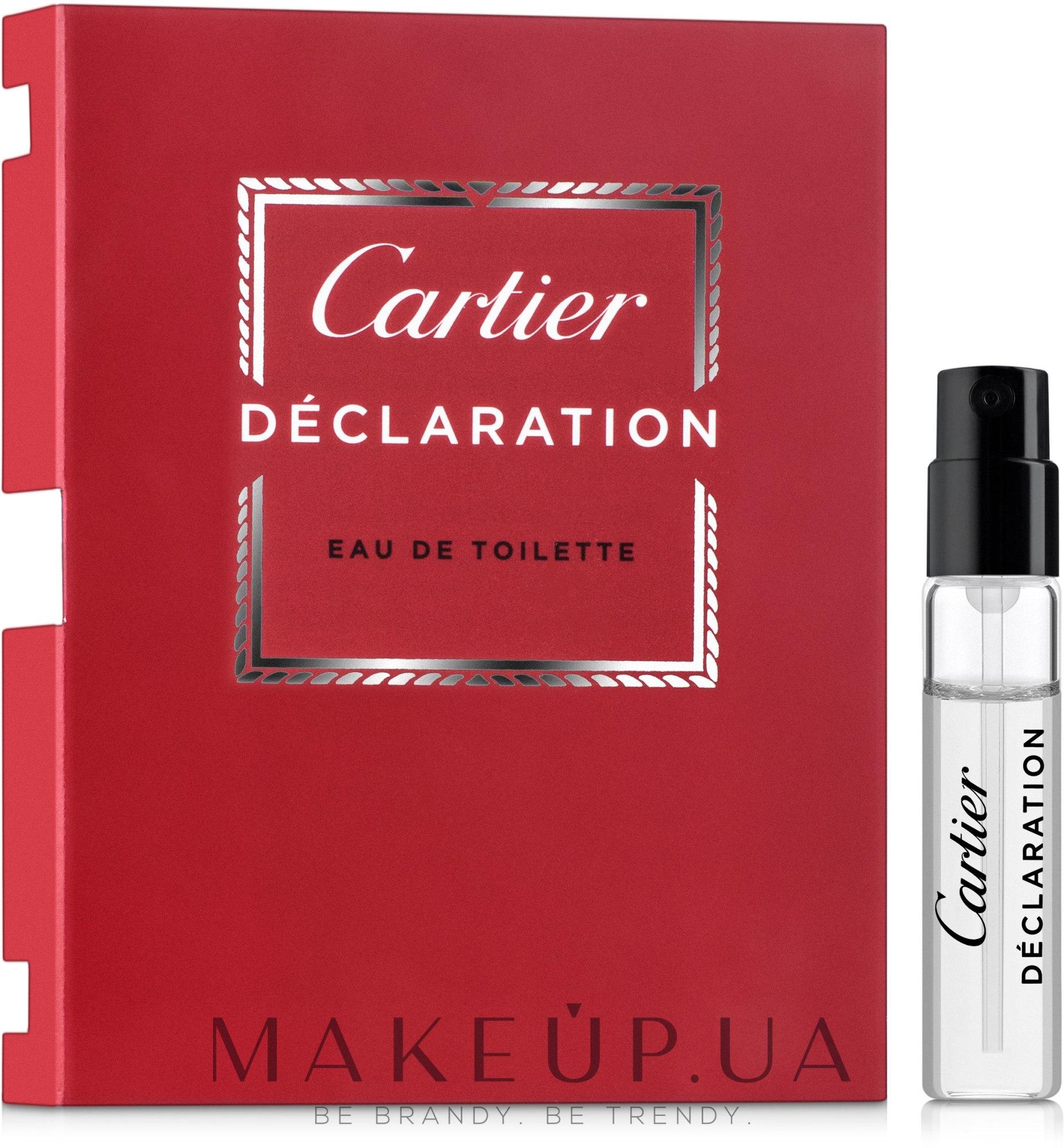 Cartier Declaration - Туалетная вода (пробник) — фото 1.5ml