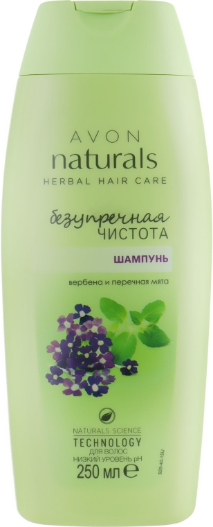 "Шампунь для волос ""Безупречная чистота. Вербена и перечная мята"" - Avon Herbal Hair Care"
