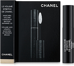 Духи, Парфюмерия, косметика Тушь для ресниц объемная - Chanel Le Volume Stretch de Chanel Mascara 3D-Printed Brush Tube (пробник)