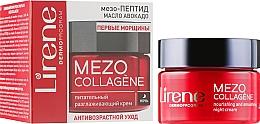 Духи, Парфюмерия, косметика Ночной крем для лица против морщин - Lirene Mezo Collagene