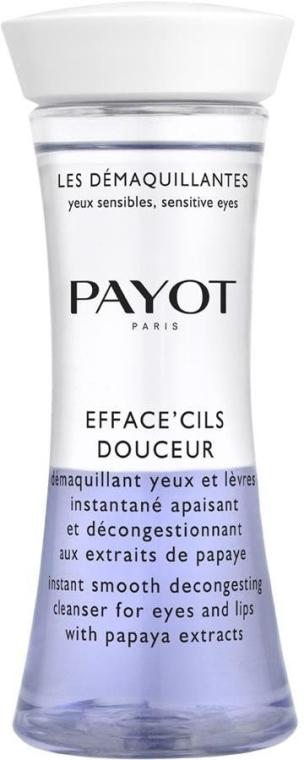 Двухфазное очищающее средство для глаз и губ с экстрактом папайи - Payot Les Demaquillantes Efface Cils Douceur Instant Smooth Decongesting Cleanser
