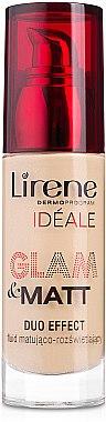 РАСПРОДАЖА Матирующий тональный флюид - Lirene Ideale Glam and Matt Duo Effect Fluid SPF 15