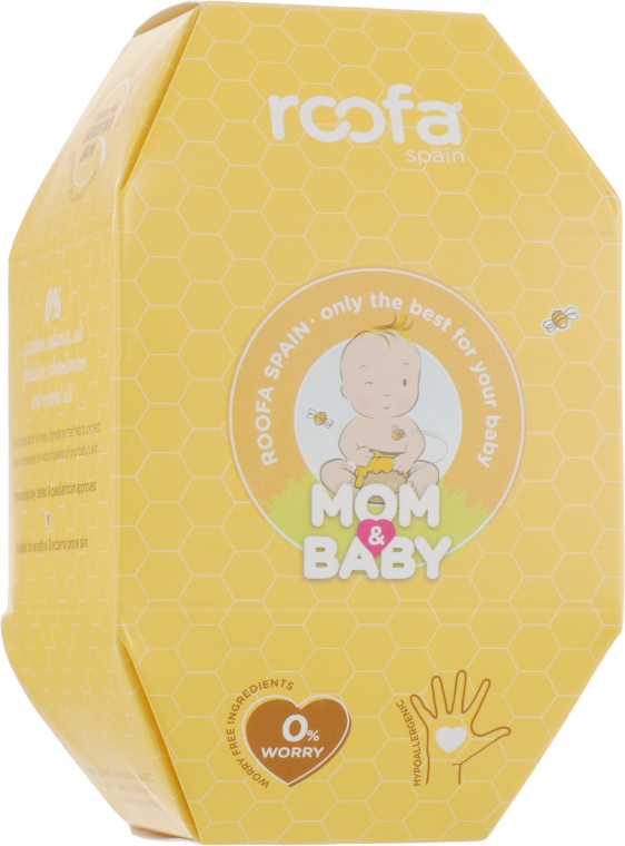 Набор - Roofa Mom & Baby Honey (bath/gel/50ml+lot/50ml+balm/10ml)