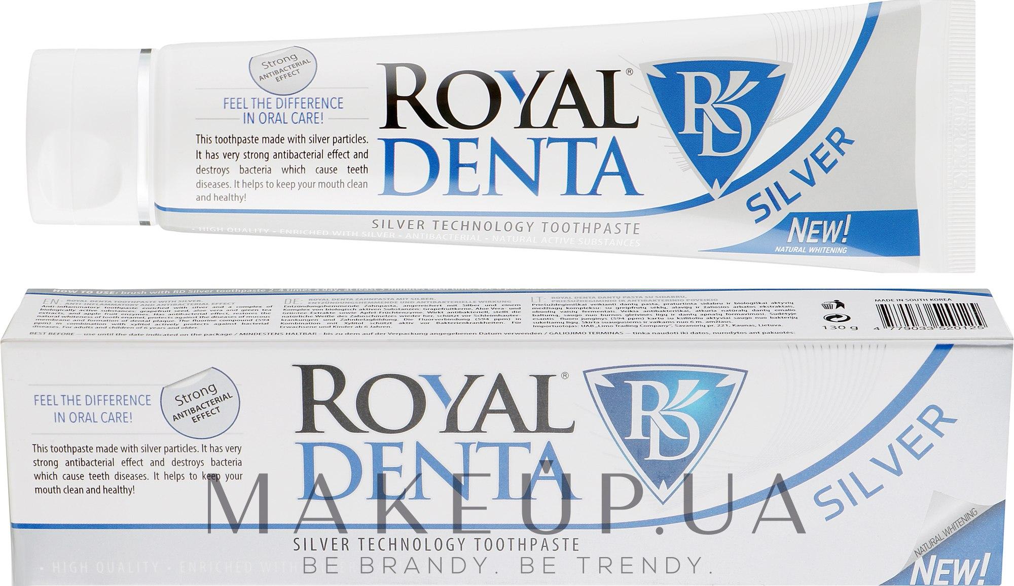 Зубна паста з сріблом - Royal Denta Silver Technology Toothpaste — фото 130g