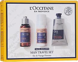 Духи, Парфюмерия, косметика Набор - L'Occitane Man Travel Set (sh/gel/75ml + deo/50ml + after/shave/balm/75ml)